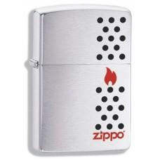 Зажигалка Zippo 200 Chimney, с покрытием Brushed Chrome, латунь/сталь, серебристая, матовая, 36x12x56 мм