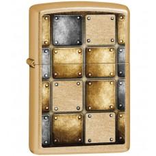 Зажигалка Zippo 28539 Classic, латунь с покрытием Gold Dust, золотой, матовая, 36х12x56 мм