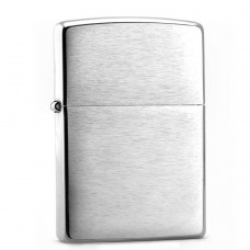 Зажигалка Zippo 200 Classic с покрытием Brushed Chrome, латунь/сталь, серебристая, матовая, 36x12x56 мм