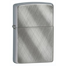 Зажигалка Zippo 28182 Classic с покрытием Brushed Chrome, латунь/сталь, серебристая, матовая, 36x12x56 мм