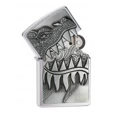 Зажигалка ZIPPO 28969 Classic с покрытием Brushed Chrome, латунь/сталь, серебристая, матовая, 36x12x56 мм