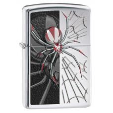Зажигалка ZIPPO 28795 Classic с покрытием High Polish Chrome, латунь/сталь, серебристая, глянцевая, 36x12x56 мм