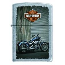 Зажигалка ZIPPO 207 HARLEY BIKES Harley-Davidson®, с покрытием Street Chrome™, латунь/сталь, серебристая, матовая, 36x12x56 мм