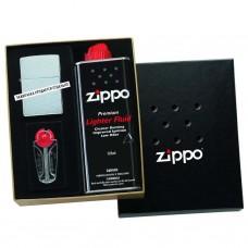 Подарочная коробка Zippo 50R (кремни + топливо, 125 мл + место для широкой зажигалки), 118х43х145 мм