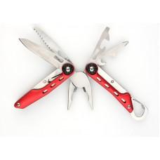 Мультитул Stinger MT-A036, сталь (красный), 10 инструментов, нейлоновый чехол, коробка картон