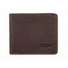Портмоне ZIPPO 2005119, коричневое, натуральная кожа, 11x1,5x10 см