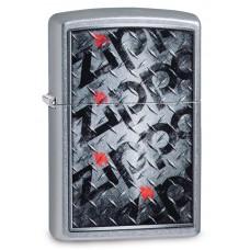 Зажигалка ZIPPO 29838 Diamond Plate Zippo Design с покрытием Street Chrome™, латунь/сталь, серебрист