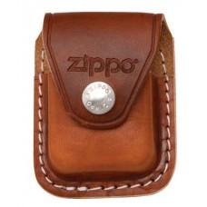 Чехол Zippo LPCB для зажигалки, кожа с металлическим фиксатором на ремень, коричневый, 57х30x75 мм