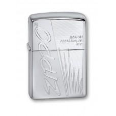 Зажигалка ZIPPO 250 Zippo Made In US Classic с покрытием High Polish Chrome, латунь/сталь, серебр