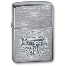 Зажигалка ZIPPO 200 Since 1932, с покрытием Brushed Chrome, латунь/сталь, серебристая