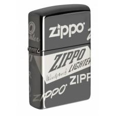 Зажигалка ZIPPO 49051 Classic с покрытием Black Ice®, латунь/сталь, чёрная, глянцевая, 36х12х56 мм