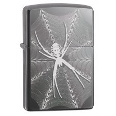 Зажигалка ZIPPO 29733 с покрытием Black Ice®, латунь/сталь, чёрная, глянцевая, 36x12x56 мм