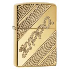 Зажигалка ZIPPO 29625 Classic с покрытием High Polish Brass, латунь/сталь, золотистая, глянцевая, 36